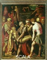 Vasari, Giorgio (1511-1574) Giorgio Vasari (1511-1574); La mise au tombeau du Christ; Maison Vasari; Arezzo