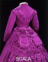 Madame Vignon (sec. XIX) Abito, dettaglio. Francia, 1869-70