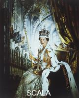 Beaton, Cecil (1904-1980) Queen Elizabeth II in Coronation Robes. England, 1953.